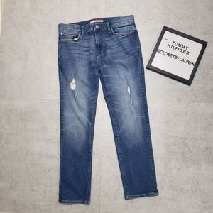 Tommy Hilfiger High Rise Distressed Jeans
